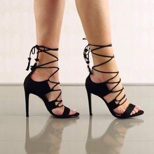 Aldo Marys Ankle Strap High Heel Black  Sandals